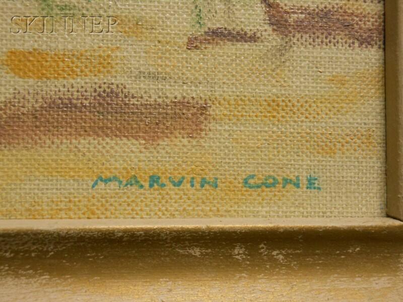 Marvin Cone (American, 1891-1964)      In a Paris Park