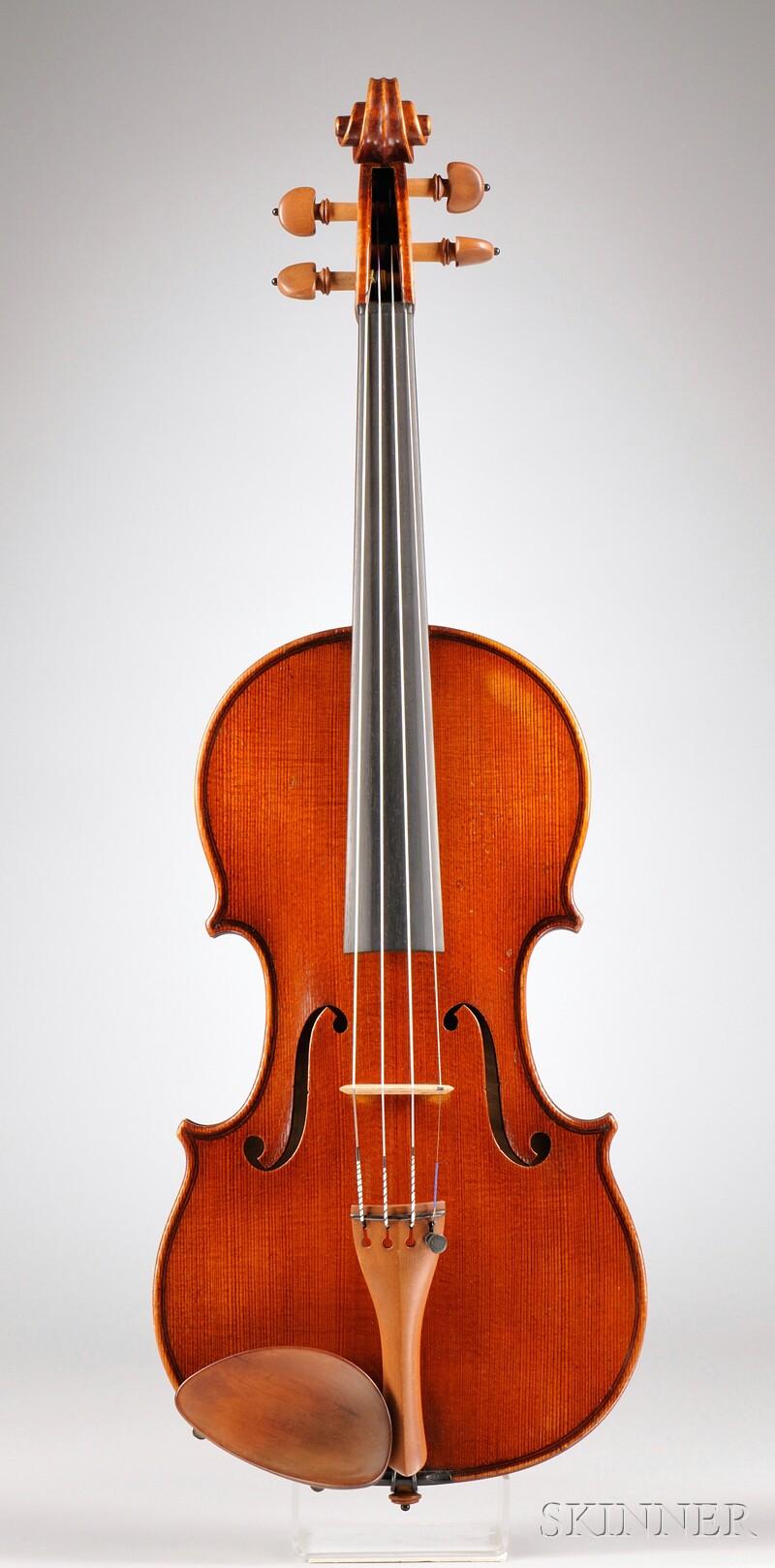 Modern German Violin, Ludwig Glaesel, Jr., Markneukirchen, 1925