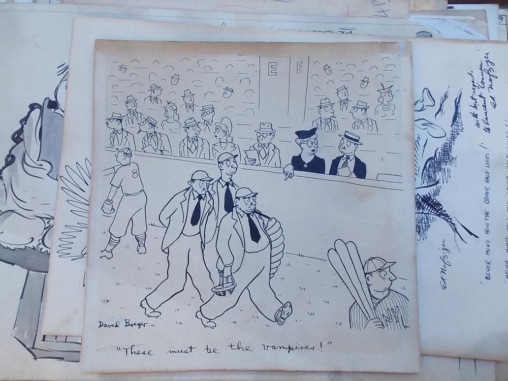 Cartoon Art, Twenty-eight Signed Drawings, c. 1940.