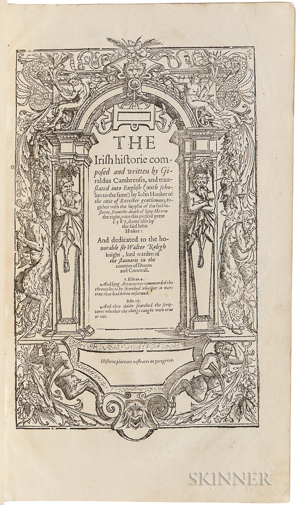 Holinshed, Raphael (d. 1580?) A Fragment of the Chronicles  : Gerald of Wales's The Irish Historie.