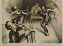 Lot of Two Prints:  American School, 20th Century, Jitterbug Dancers
