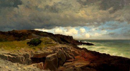 Franklin DeHaven (American, 1856-1934)    Coastal Rocks