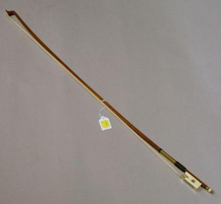 Gold and Bone Mounted  Violin-Viola Bow,  F.V. Henderson