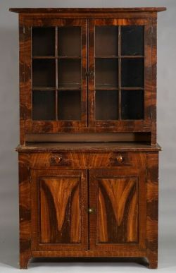 Pine Painted Poplar Glazed Cupboard