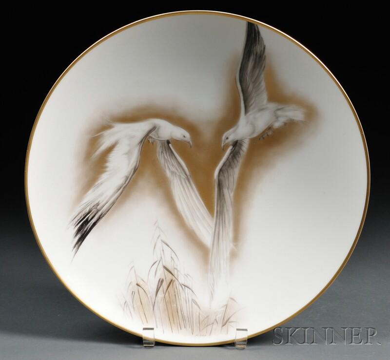 Heinrich & Co. Bird-decorated Porcelain Center Bowl