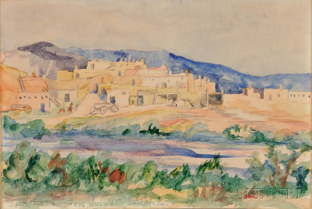 Attributed to William Penhallow Henderson (American, 1877-1943)    South Pueblo-Taos