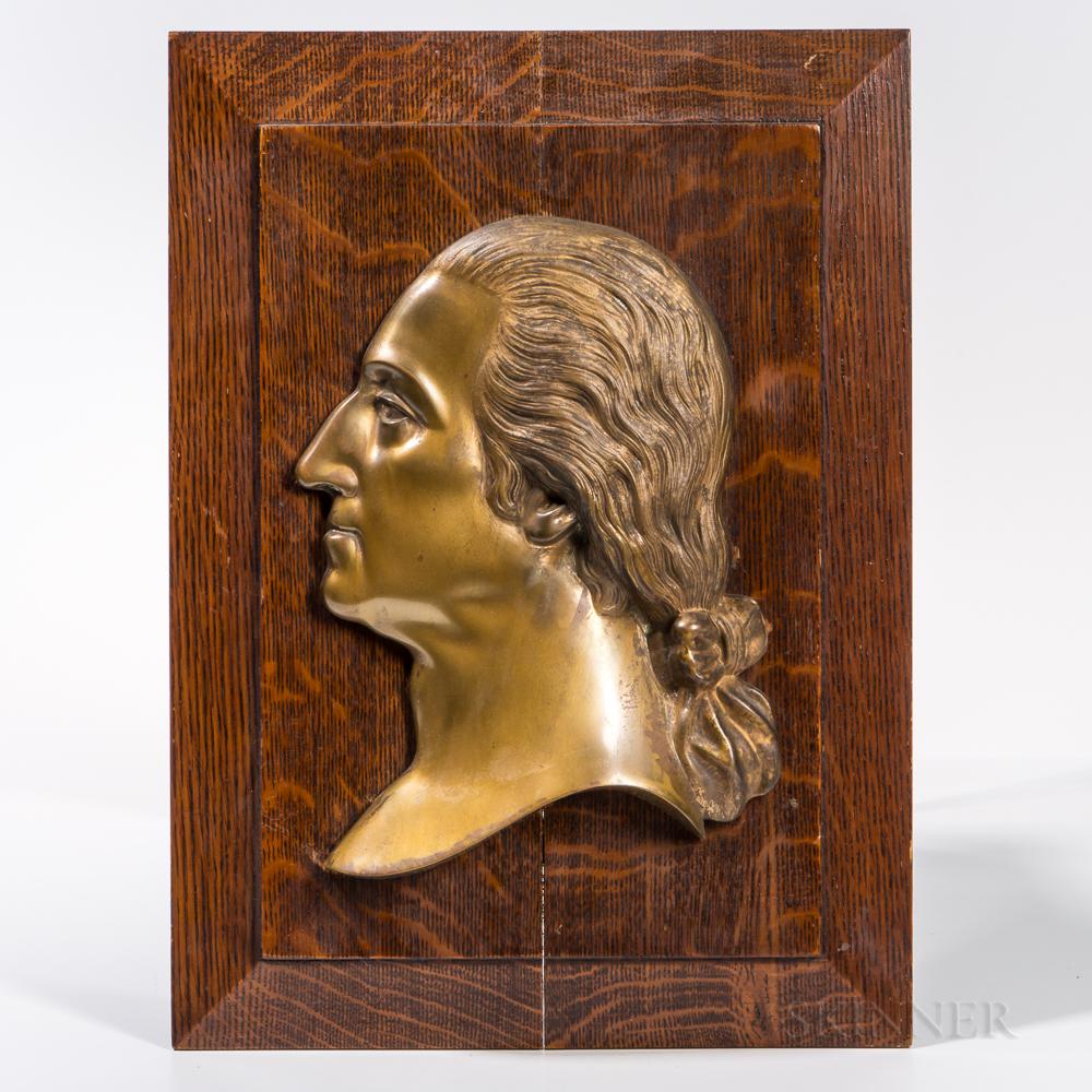 Bronze Profile Portrait of George Washington