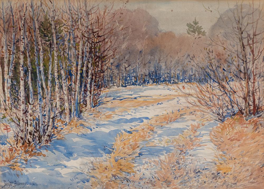 Dwight Blaney (American, 1865-1944)      The Birch Tree Path