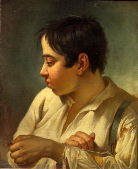 Heinrich Thurnes (German, 1833-1865)    Boy with a Penny