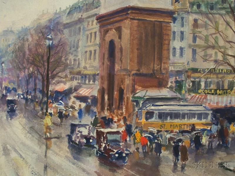 John whorf american 1903 1959 rain porte saint martin for Porte saint martin