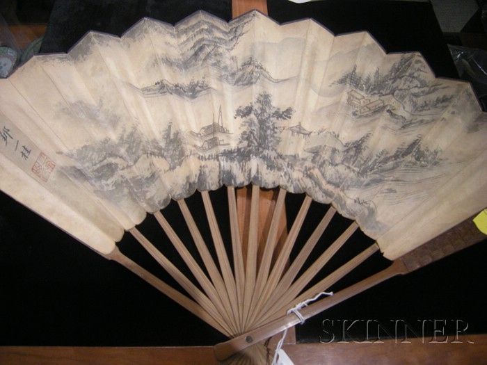 Painted Bamboo Fan