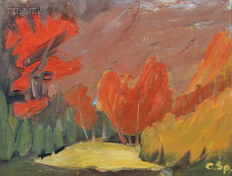 Carl Sprinchorn (American, 1887-1971)      Autumn Landscape