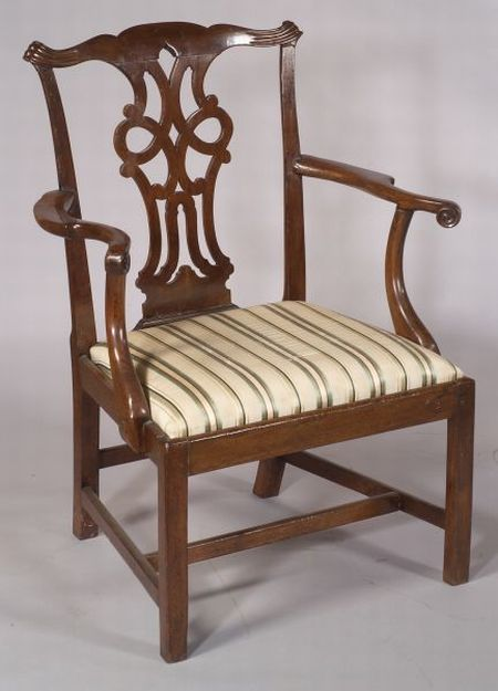 English Chippendale Mahogany Armchair