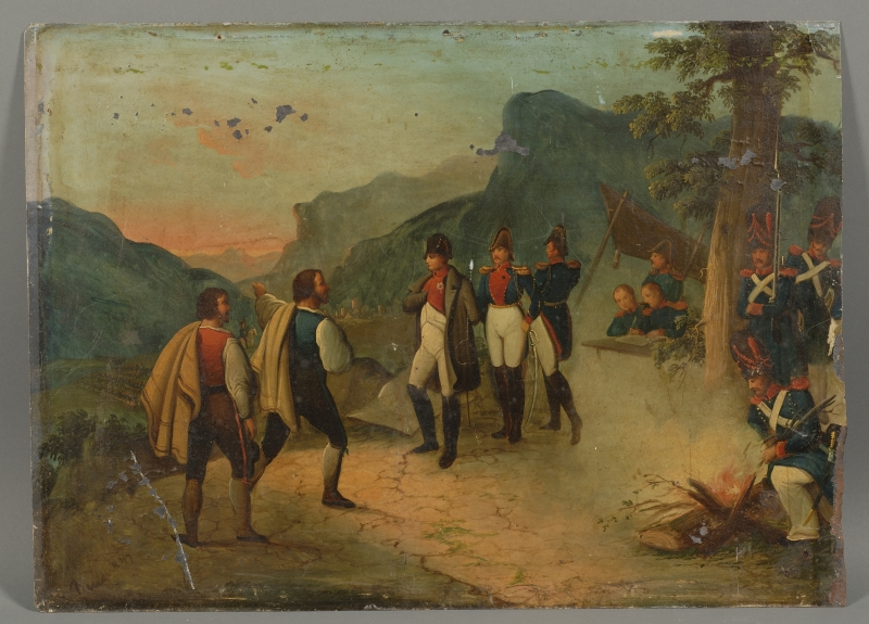 Continental School, 19th Century      Napoleon and His Troops With Scouts.