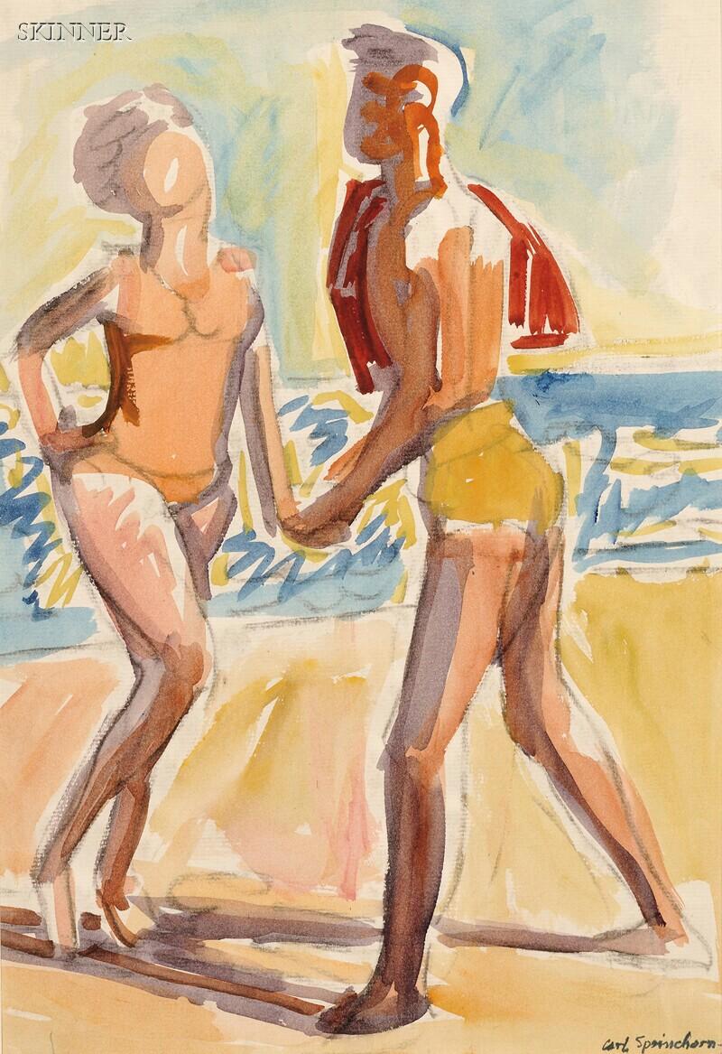 Carl Sprinchorn (American, 1887-1971)      A Sunny Beach