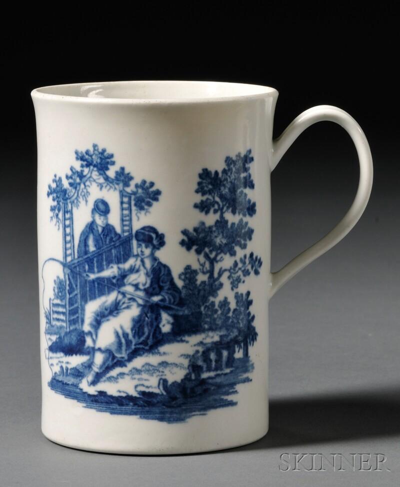 Worcester Porcelain Blue Transfer-printed Mug