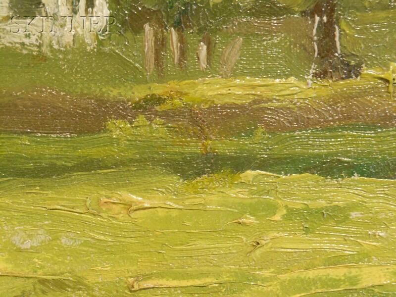 Benjamin (Ben) Foster (American, 1852-1926)      Summer Landscape
