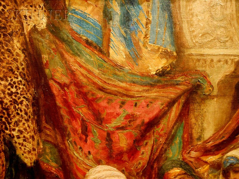 Fabio Fabbi (Italian, 1861-1946)      At the Textile Market