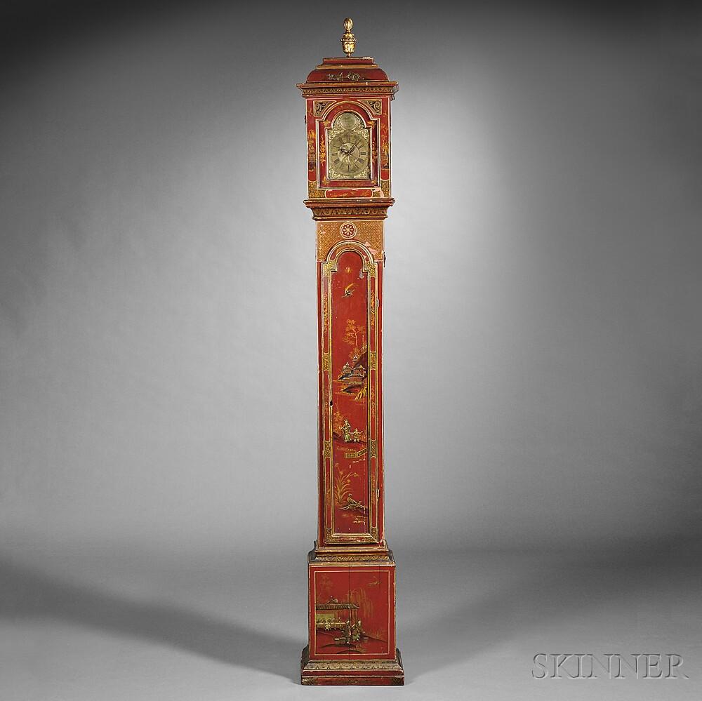 Japanned Beech Case Lantern Clock