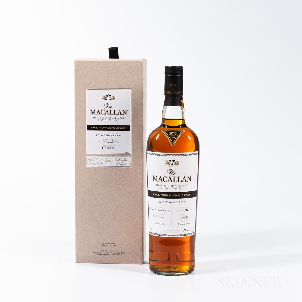 Macallan Exceptional Single Cask 16 Years Old 2002, 1 750ml bottle (oc)