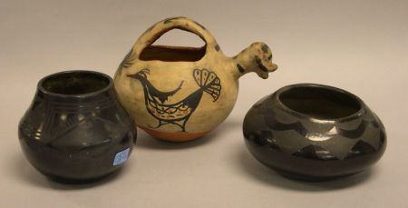 (DSM) Three Pieces of Indian Pottery.