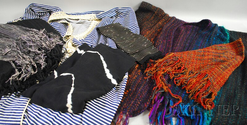 Group of Mostly Handwoven Garments and a Robe