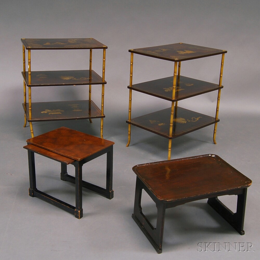 Four Pieces of Modern Lacquered Chinese-style Furniture