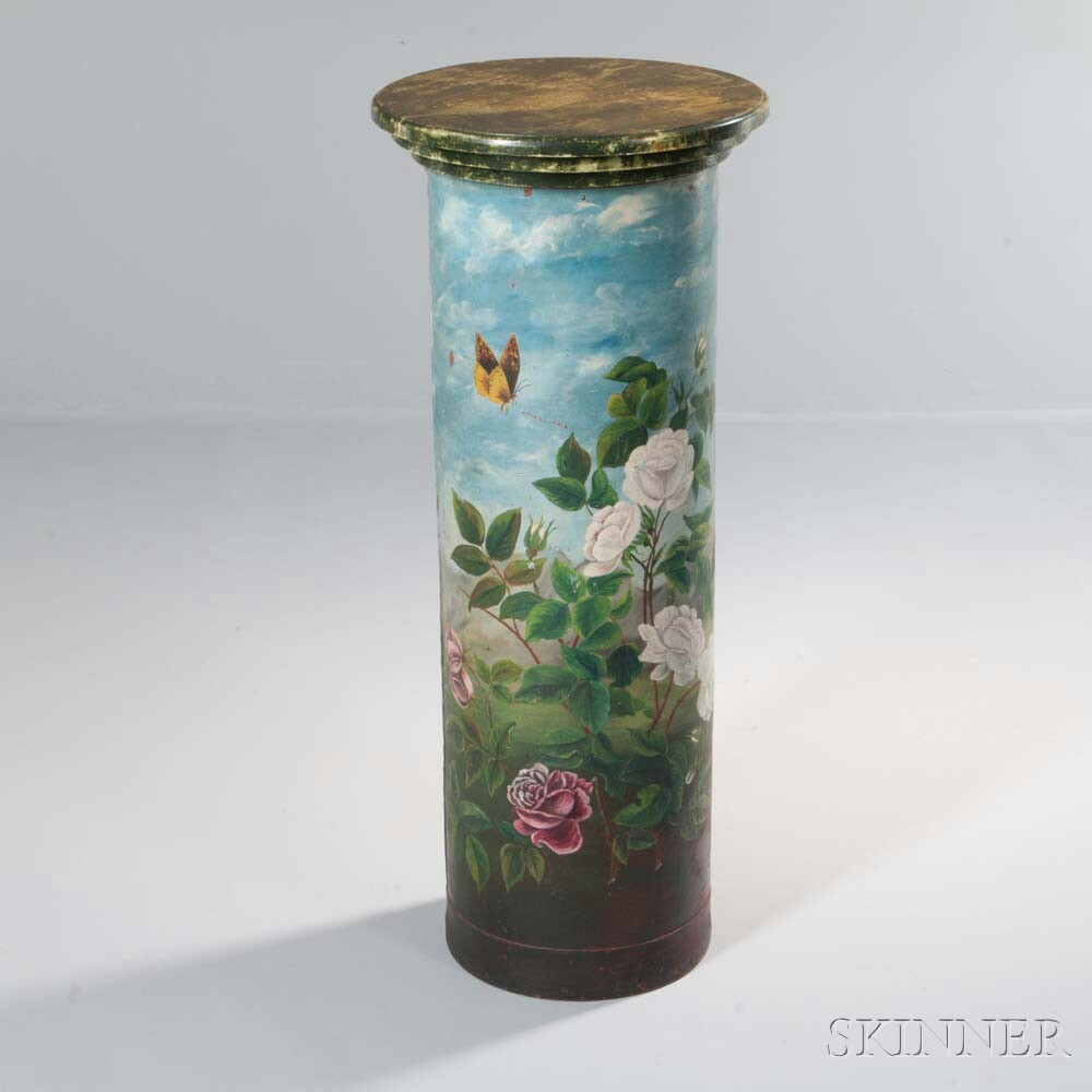 Victorian-style Painted Columnar Stand