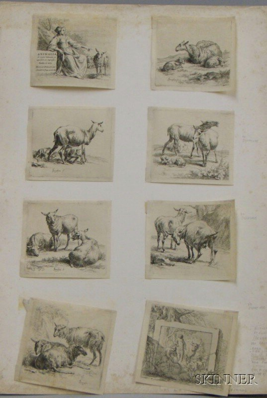 Eight Small Old Master Style Animal Prints