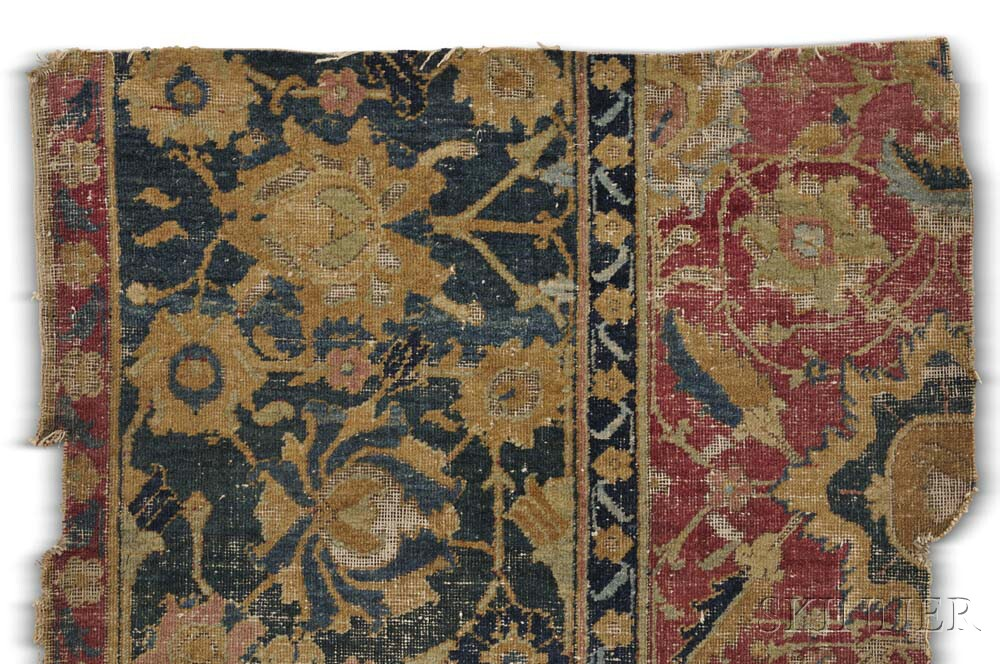 Four Safavid Rug Fragments