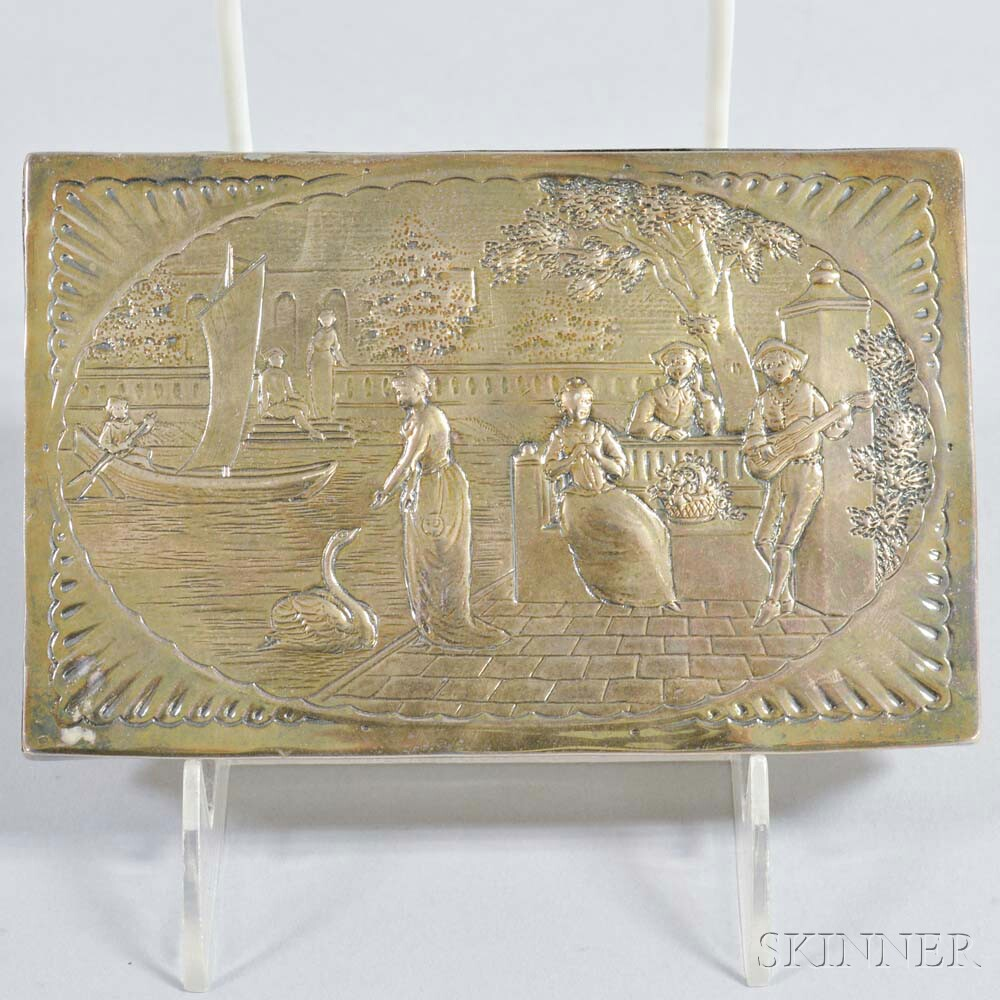 E.C. Brown Silver-plated Repousse Box