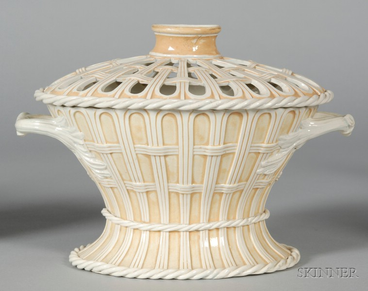 Wedgwood White Terra Cotta Bouquetiere and Cover
