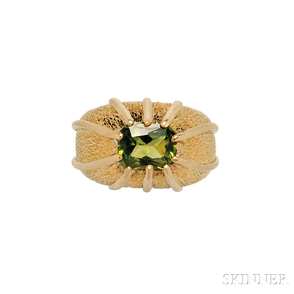 18kt Gold and Peridot Ring, Schlumberger, Tiffany & Co.