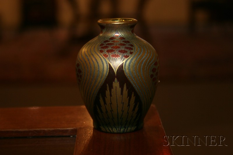 Miniature Zsolnay Floral Decorated Vase