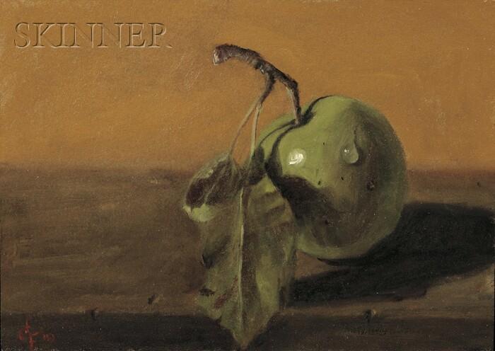 Leslie Gabosh (American, b. 1946)      Still Life with Green Apple