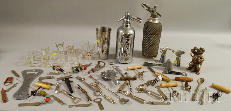 Collection of Vintage Bar and Liquor Related Items
