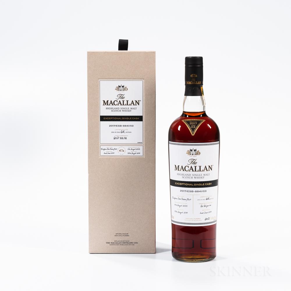 Macallan Exceptional Single Cask 14 Years Old 2003, 1 750ml bottle (oc)