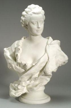 Large Sevres Parian Bust of Madame de Pompadour