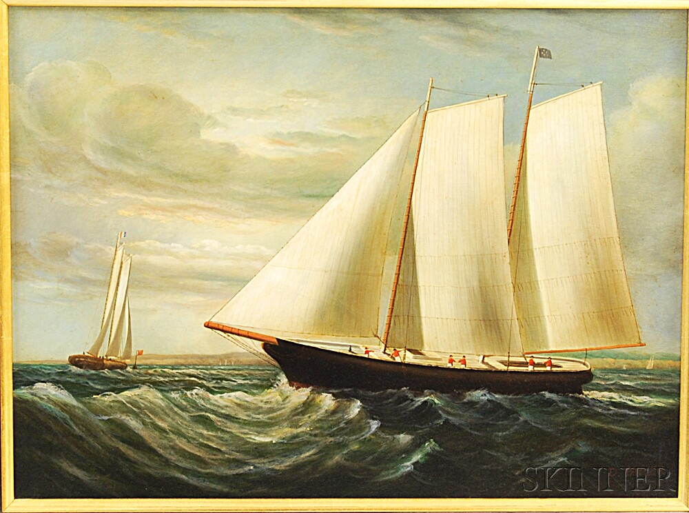 D. Tayler (American, 20th Century)       Yachting.