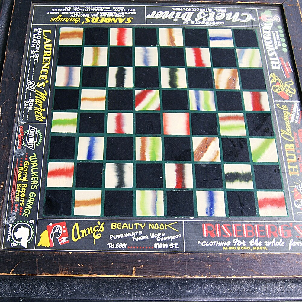 Reverse-painted Advertising Table and Game Board