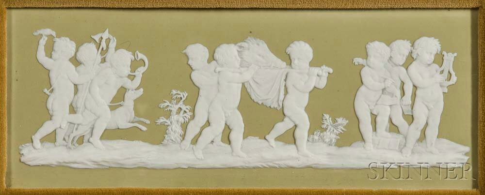 Wedgwood Green Jasper Dip Plaque