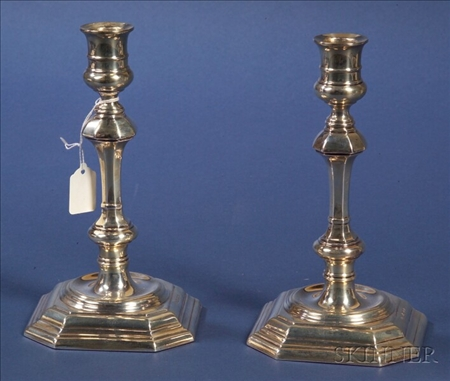 Pair of Elizabeth II Queen Anne-style Silver Candlesticks