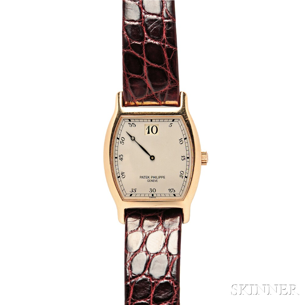 150th Anniversary Limited Edition 18kt Rose Gold Jump Hour Wristwatch, Patek Philipp