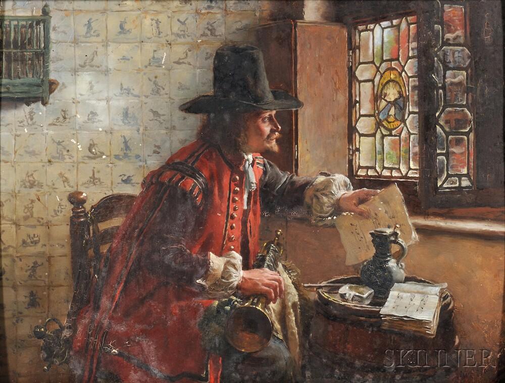 Max Gaisser (German, 1857-1922)      The Trumpeter