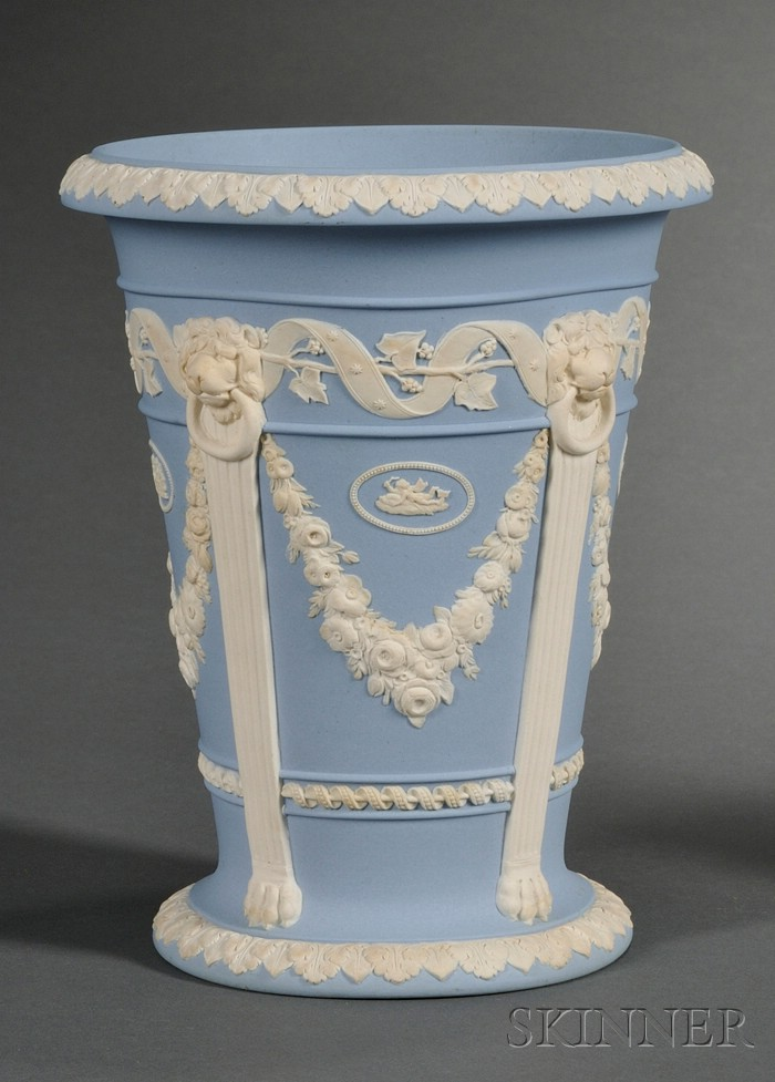 Wedgwood Solid Light Blue Jasper Vase