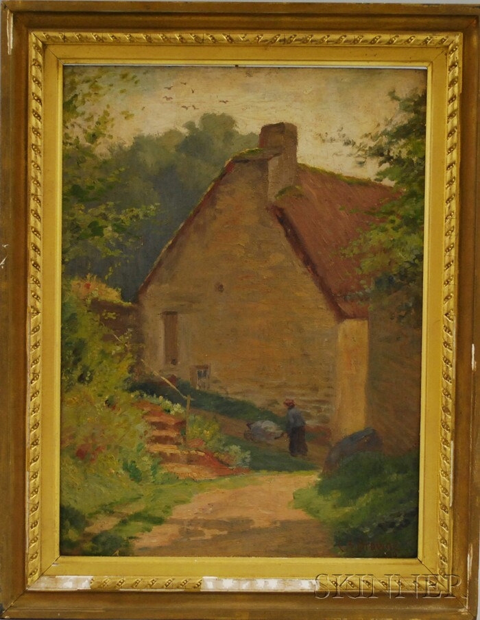 Charles Francis Browne (American, 1859-1920)      Down the Hill at Auvers sur Oise, France