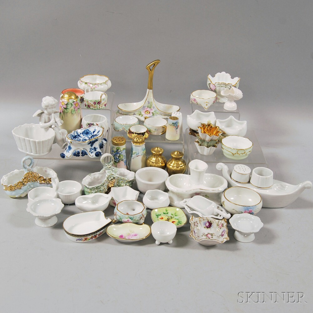 Approximately Forty-seven Mostly European Porcelain Salts