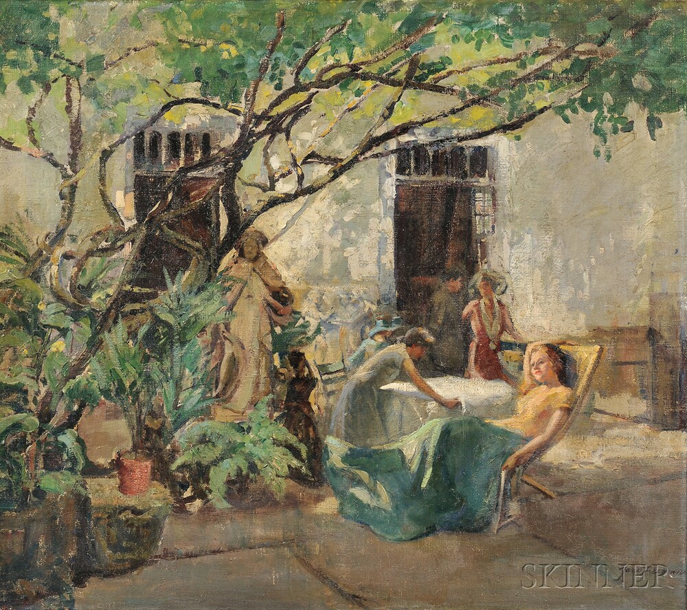 Jane Freeman (American, 1871-1963)      Patio in Southern France
