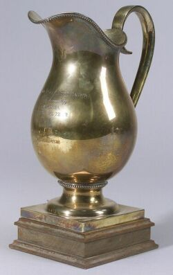 Sterling Gold-washed Racing Trophy Pitcher