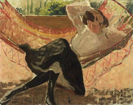Jean Puy (French, b. 1876)  Woman in Hammock